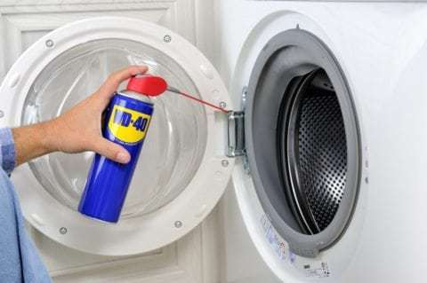 wd 40 thuisklussen wasmachine lubrification machine charniere