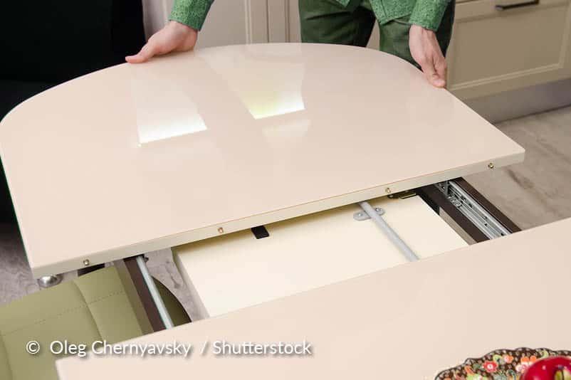onderhoud rails uitschuifbare tafel