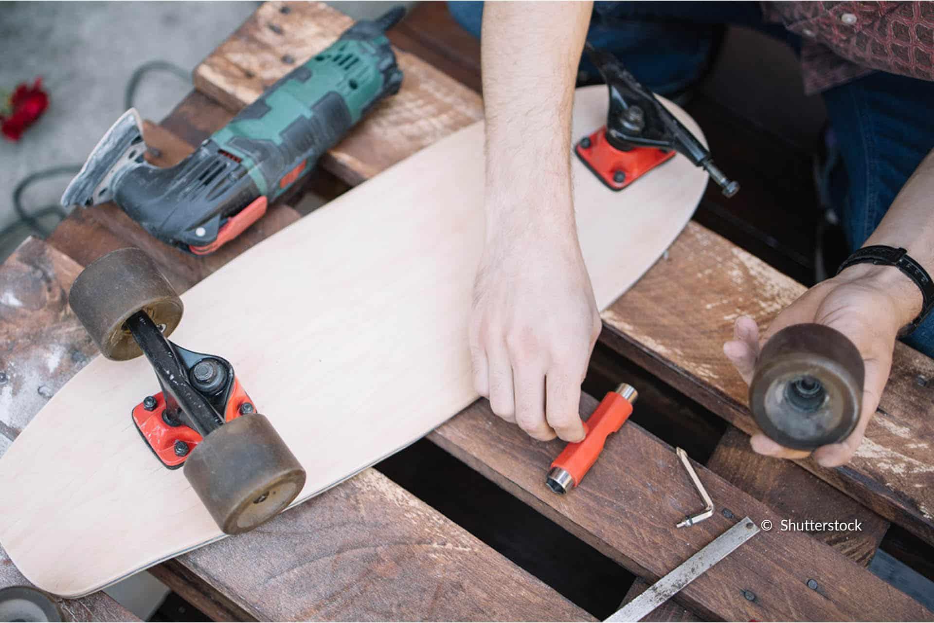 entretenir un skateboard