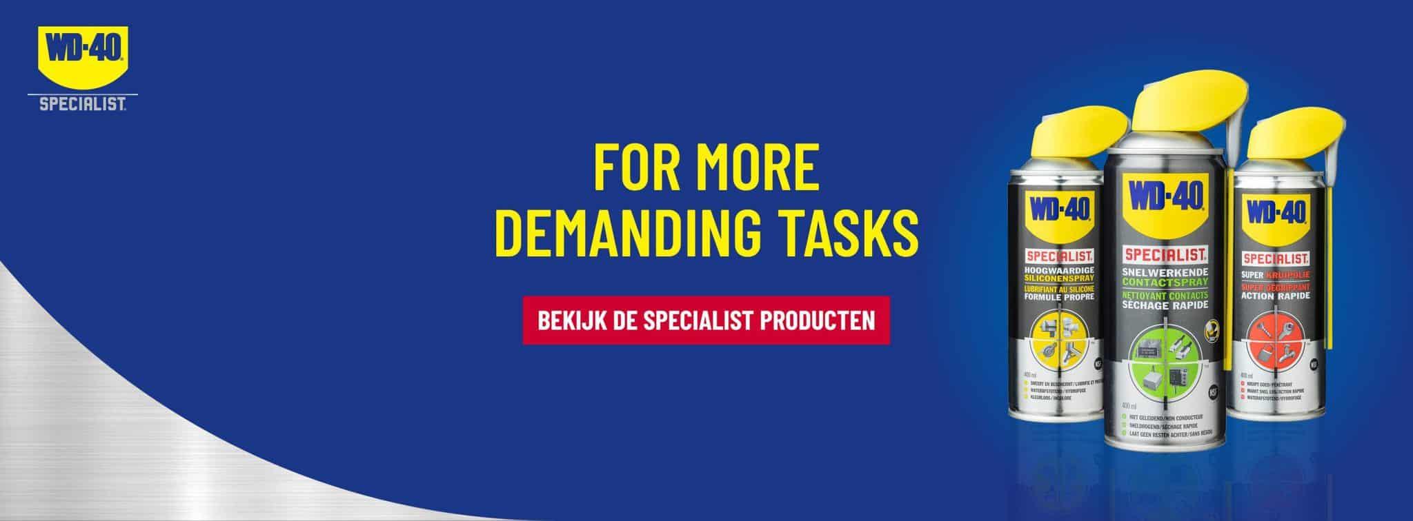 Bekijk de Specialist producten - WD-40 specialist be