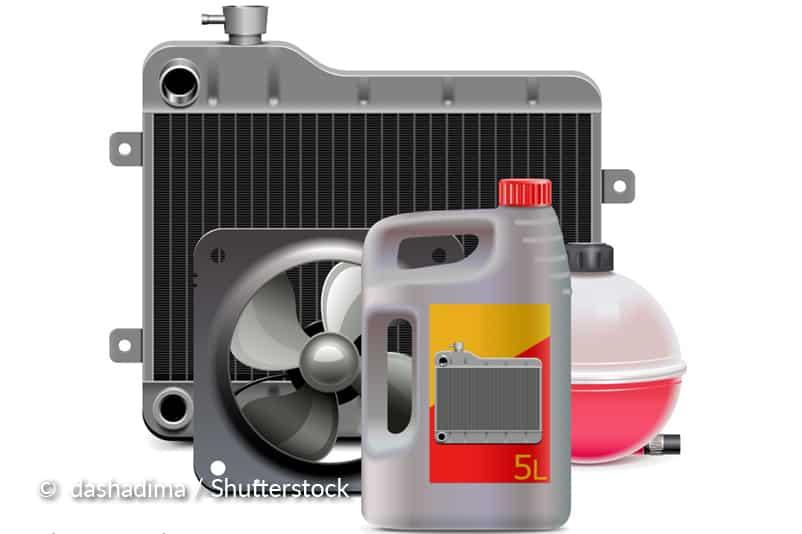 Nettoyez le radiateur avec des produits chimiques.