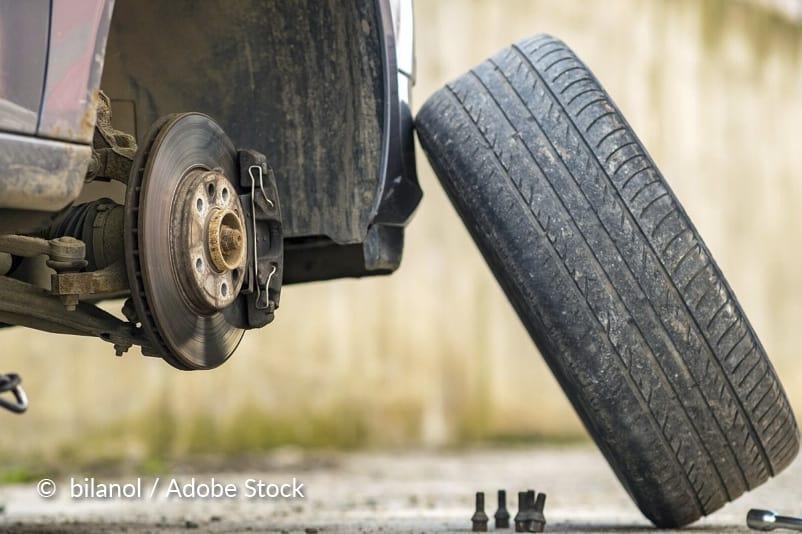 Verwijder het wiel