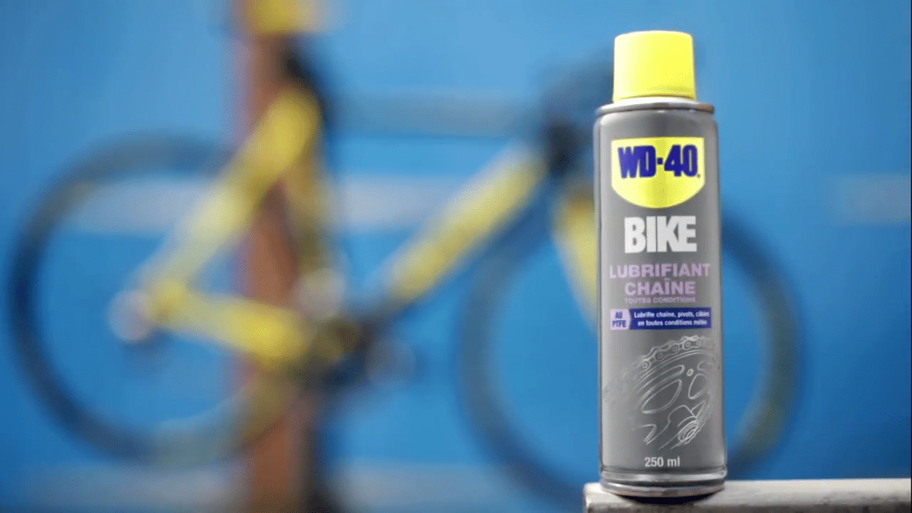 WD-40 BIKE All Conditions Chain Lube op shifters