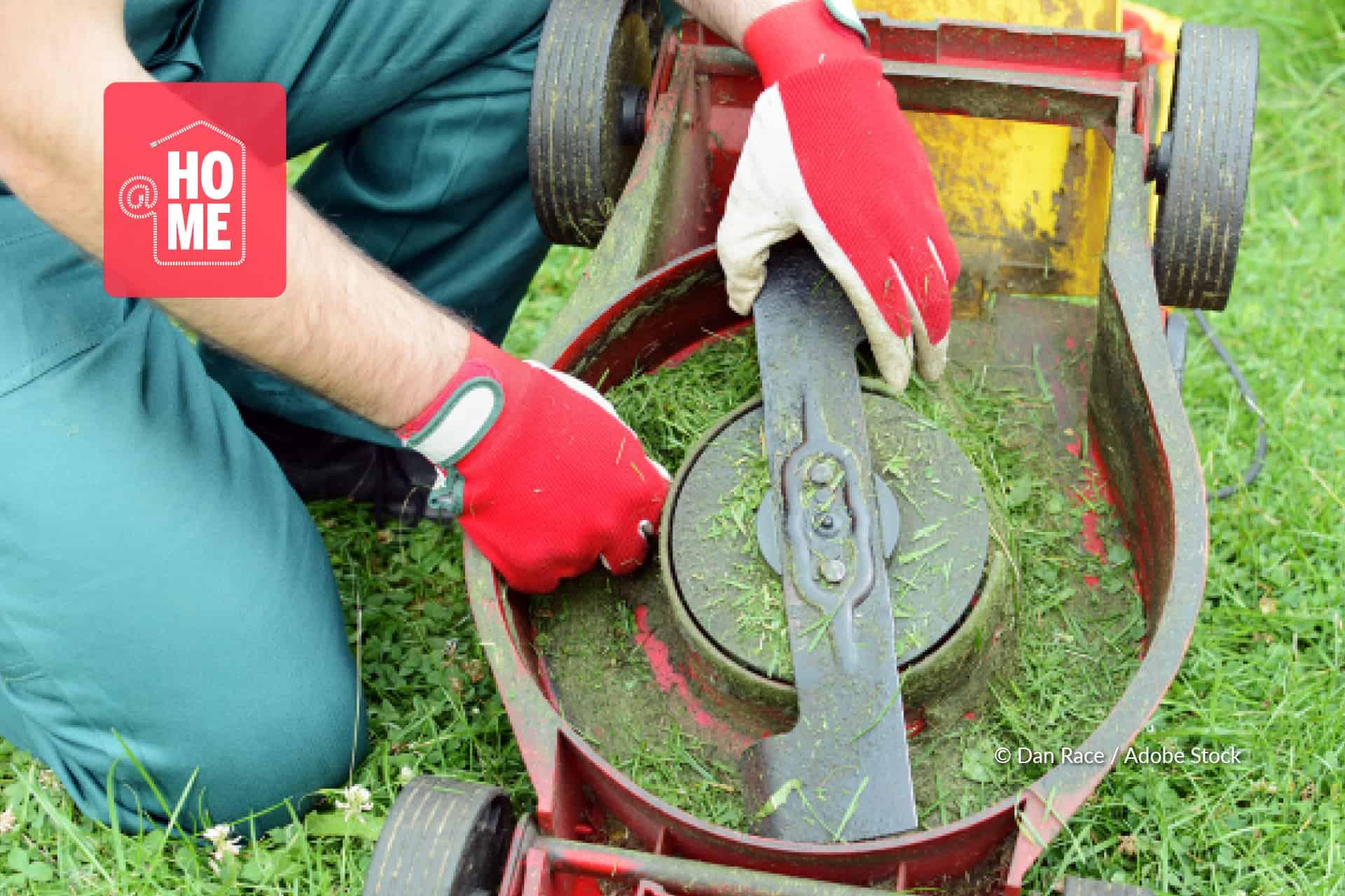 messen grasmaaier schoonmaken