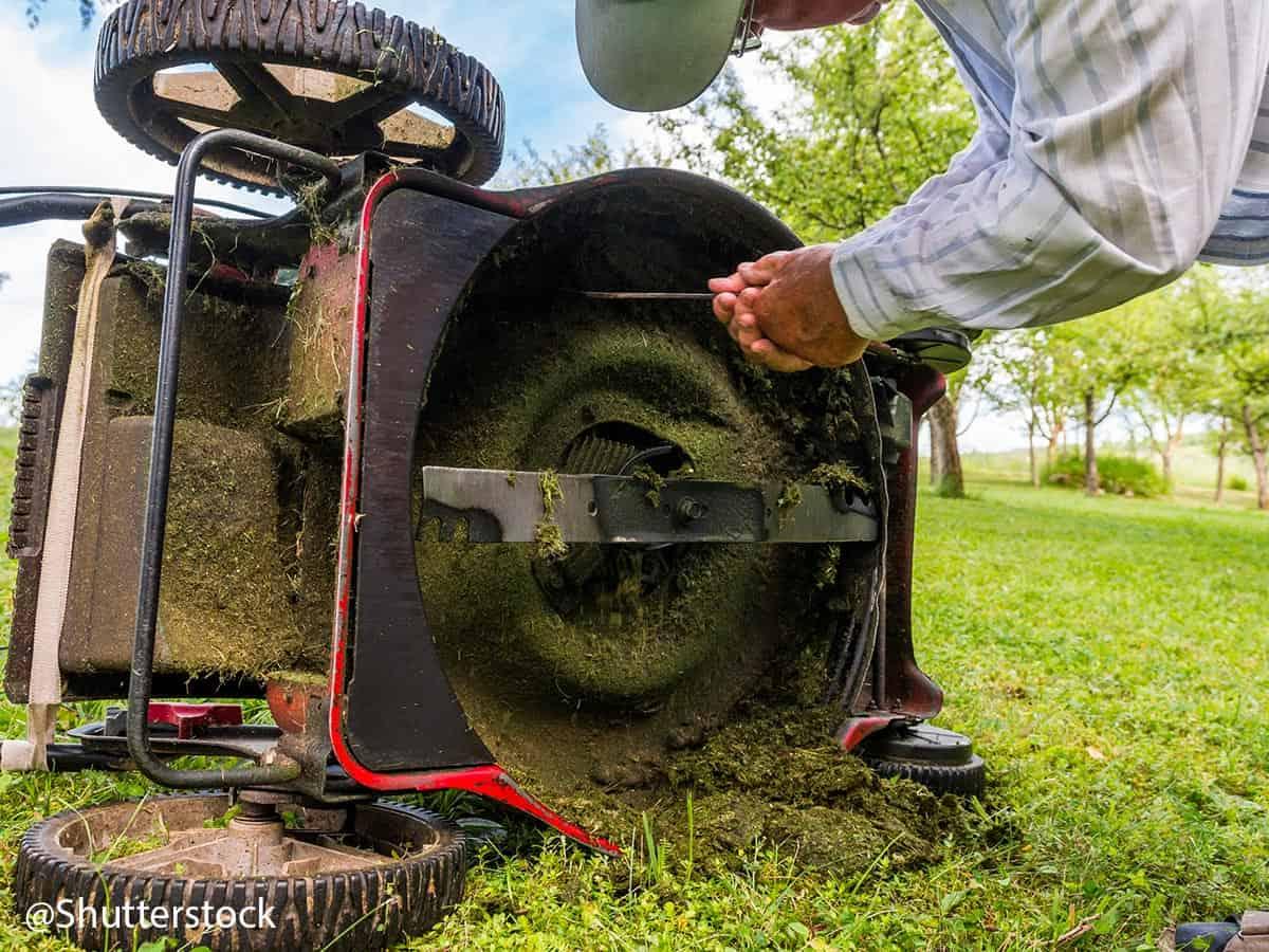 grasmaaier messen losmaken
