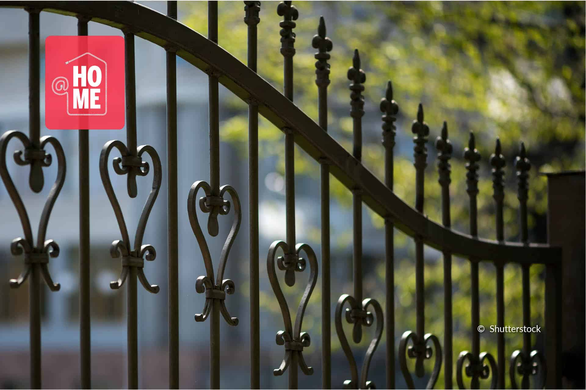 Bescherm de poort tegen roest