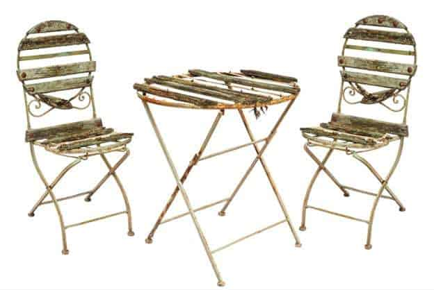 rust garden chairs