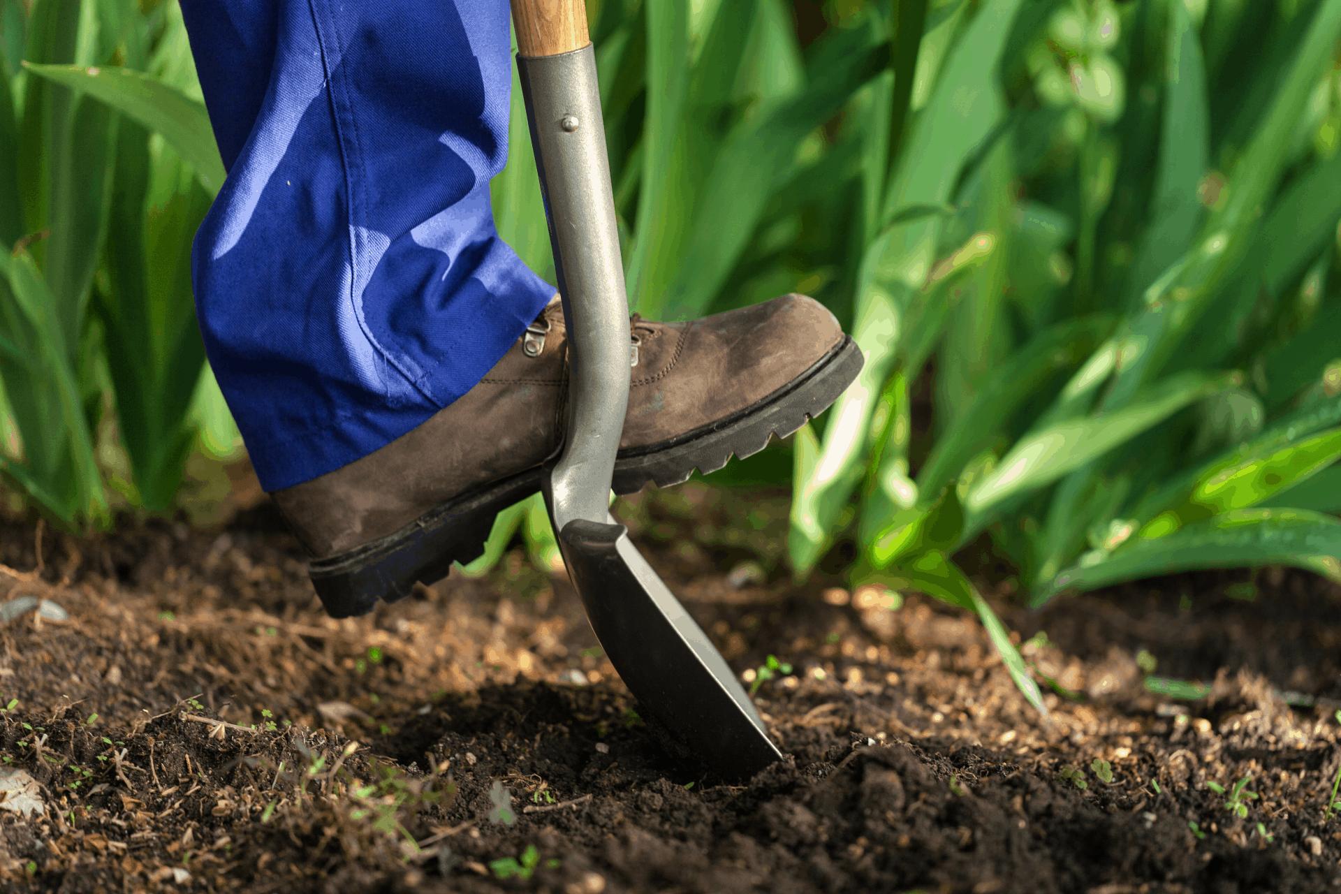 Rengjøre hageredskap