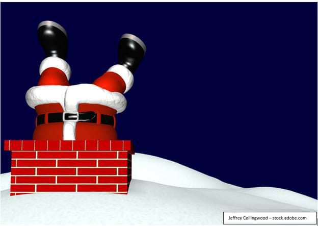 Julenissen sitter fast