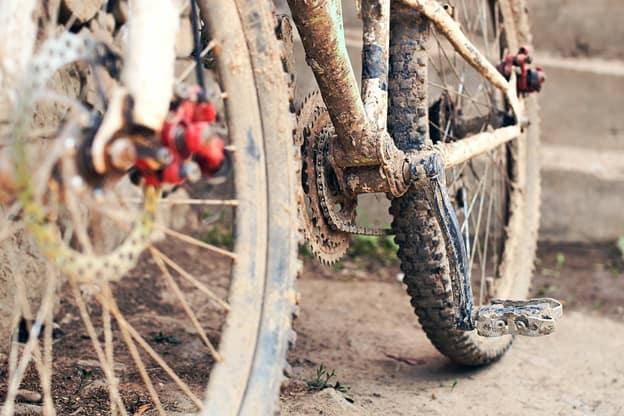 Rent sykkelkjedet, rengjøriing av sykkelen