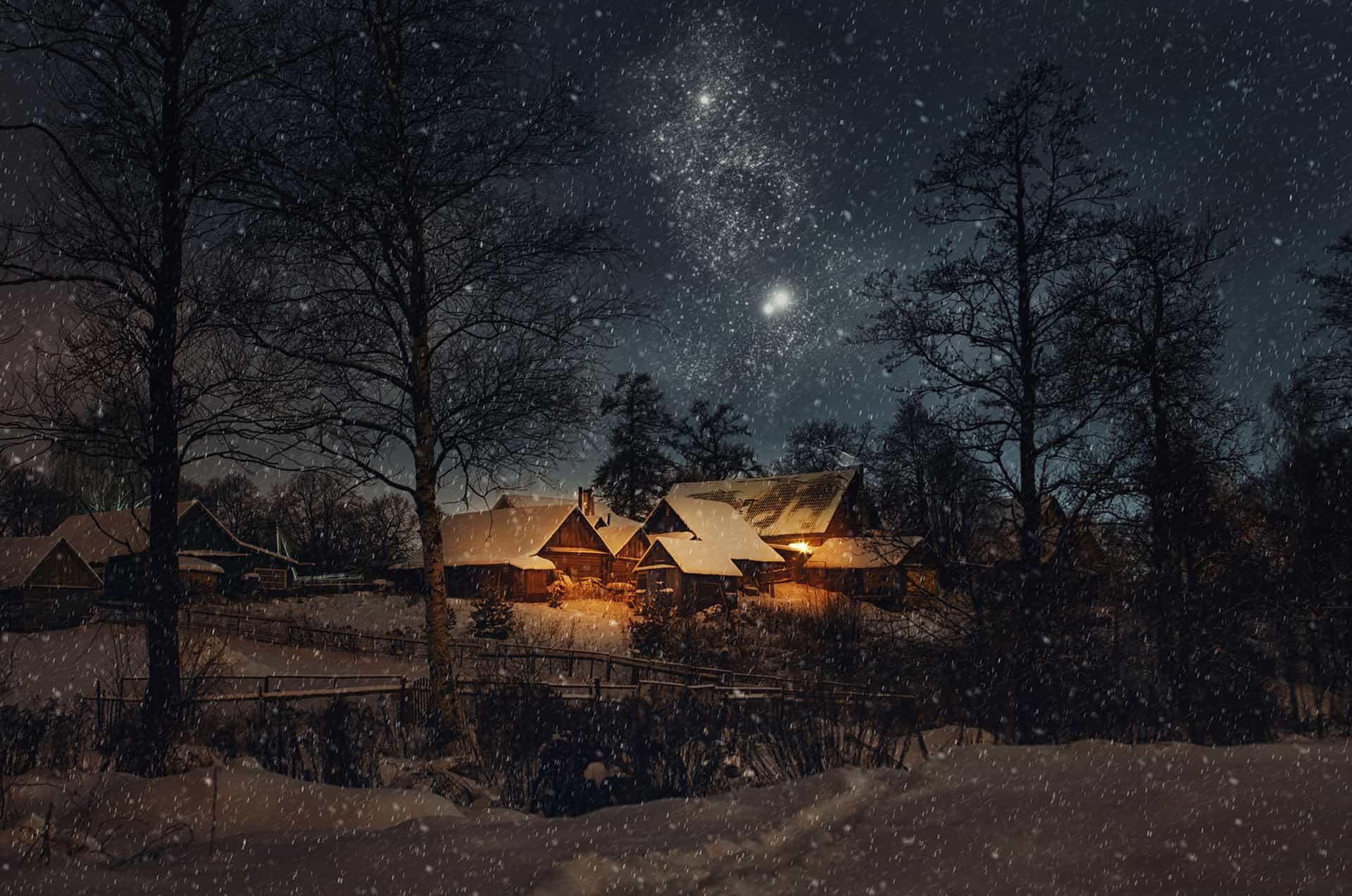 vinterklart hus