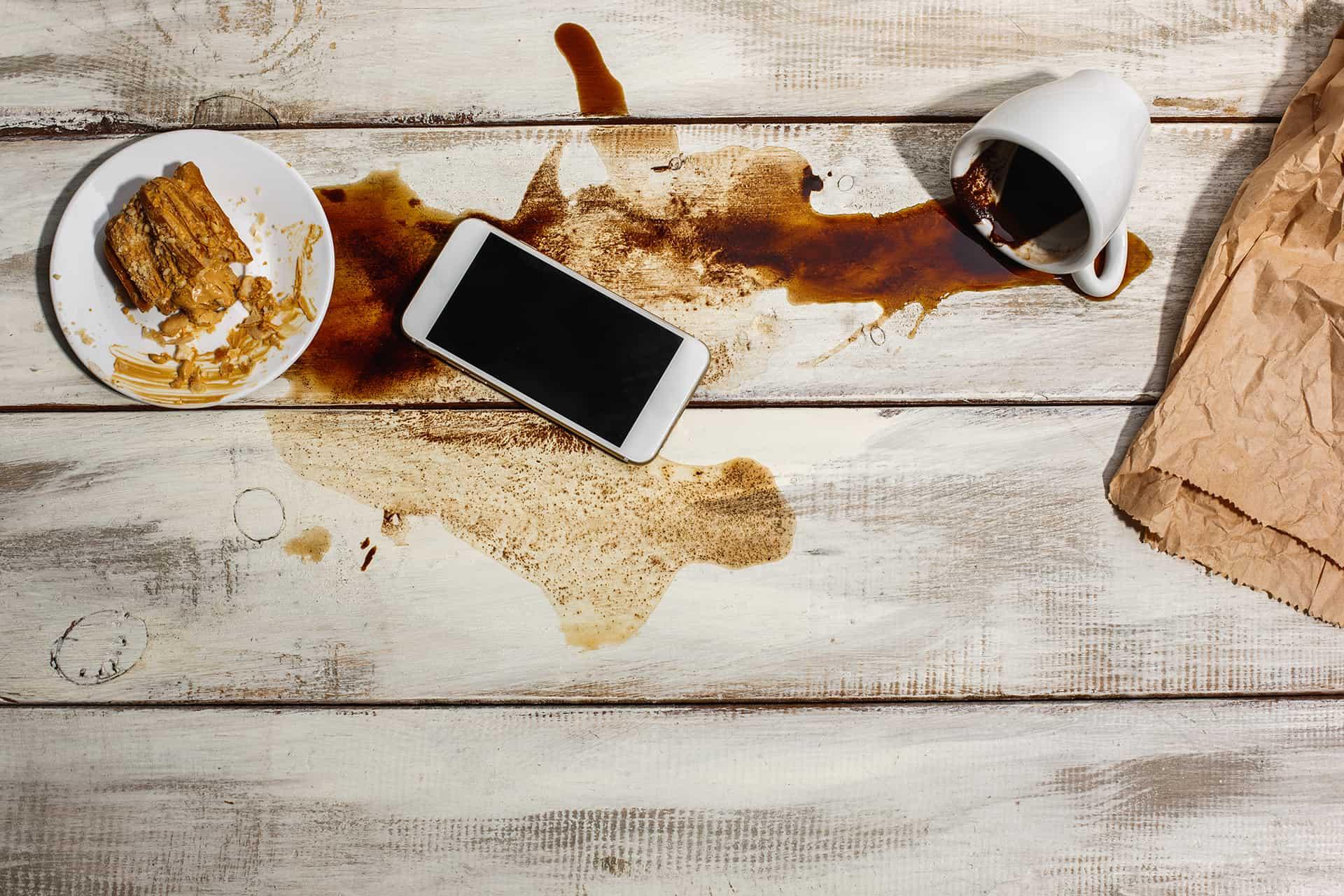 flekker fra kaffe