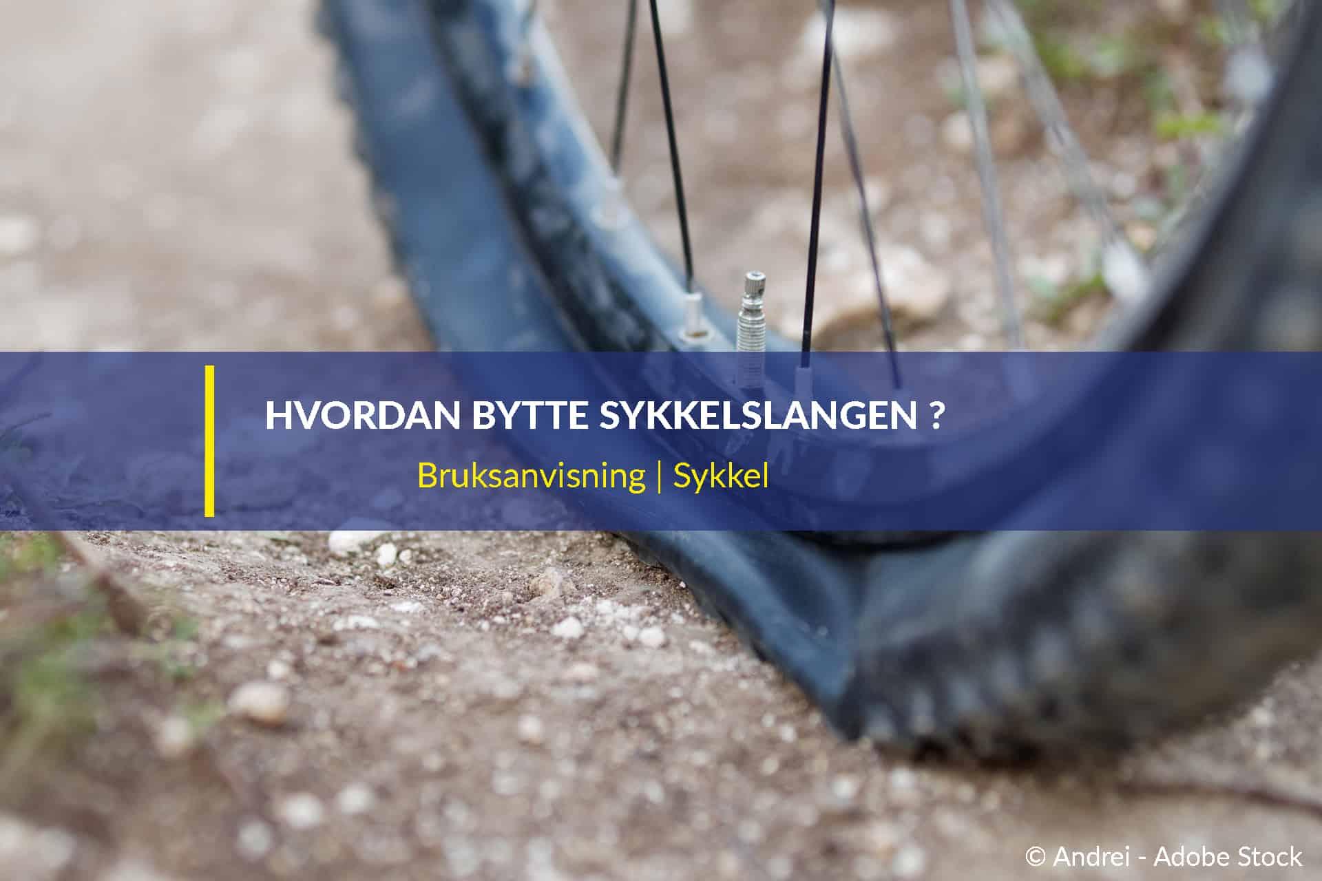 hvordan bytte sykkelslangen