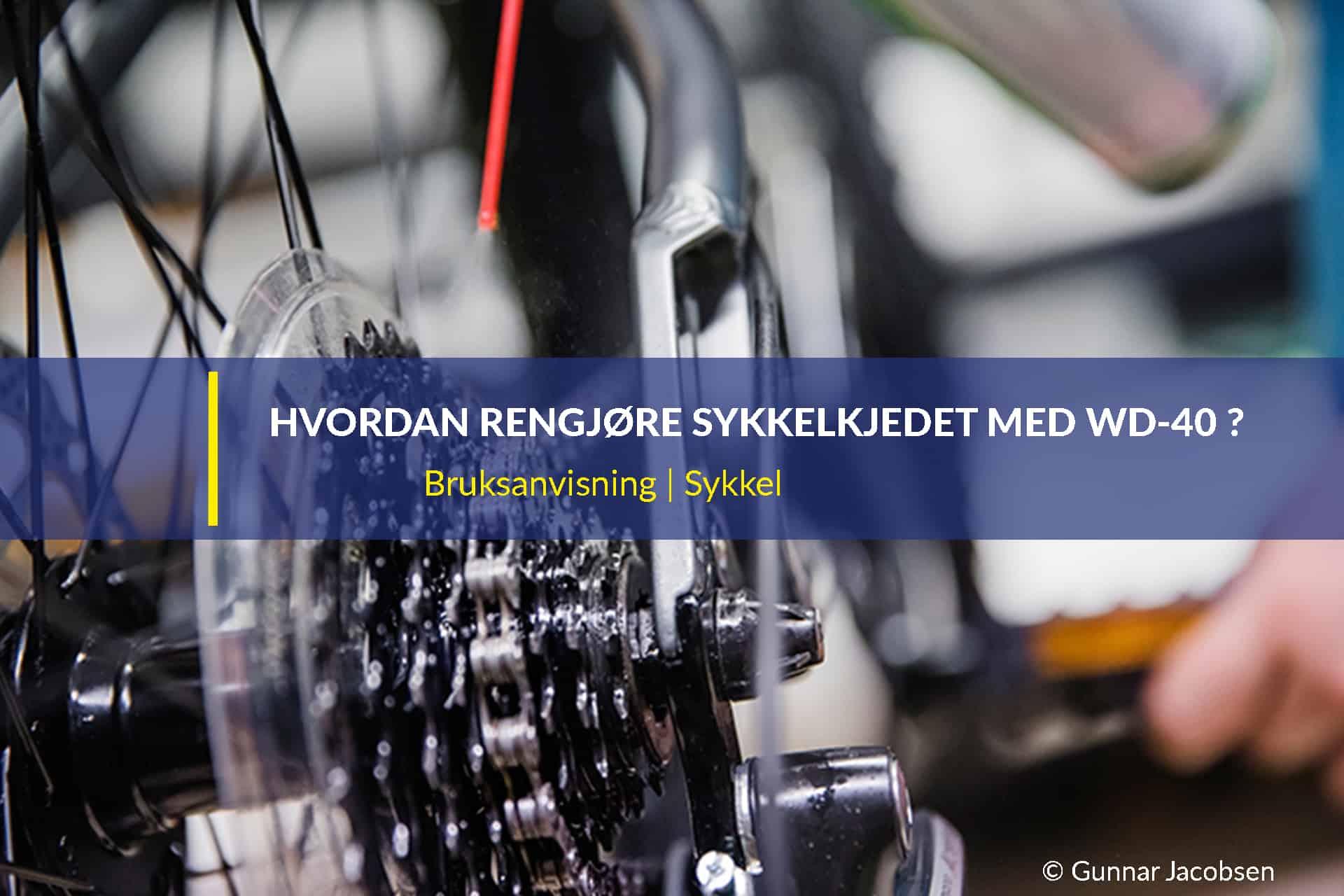hvordan rengjøre sykkelkjedet med wd 40