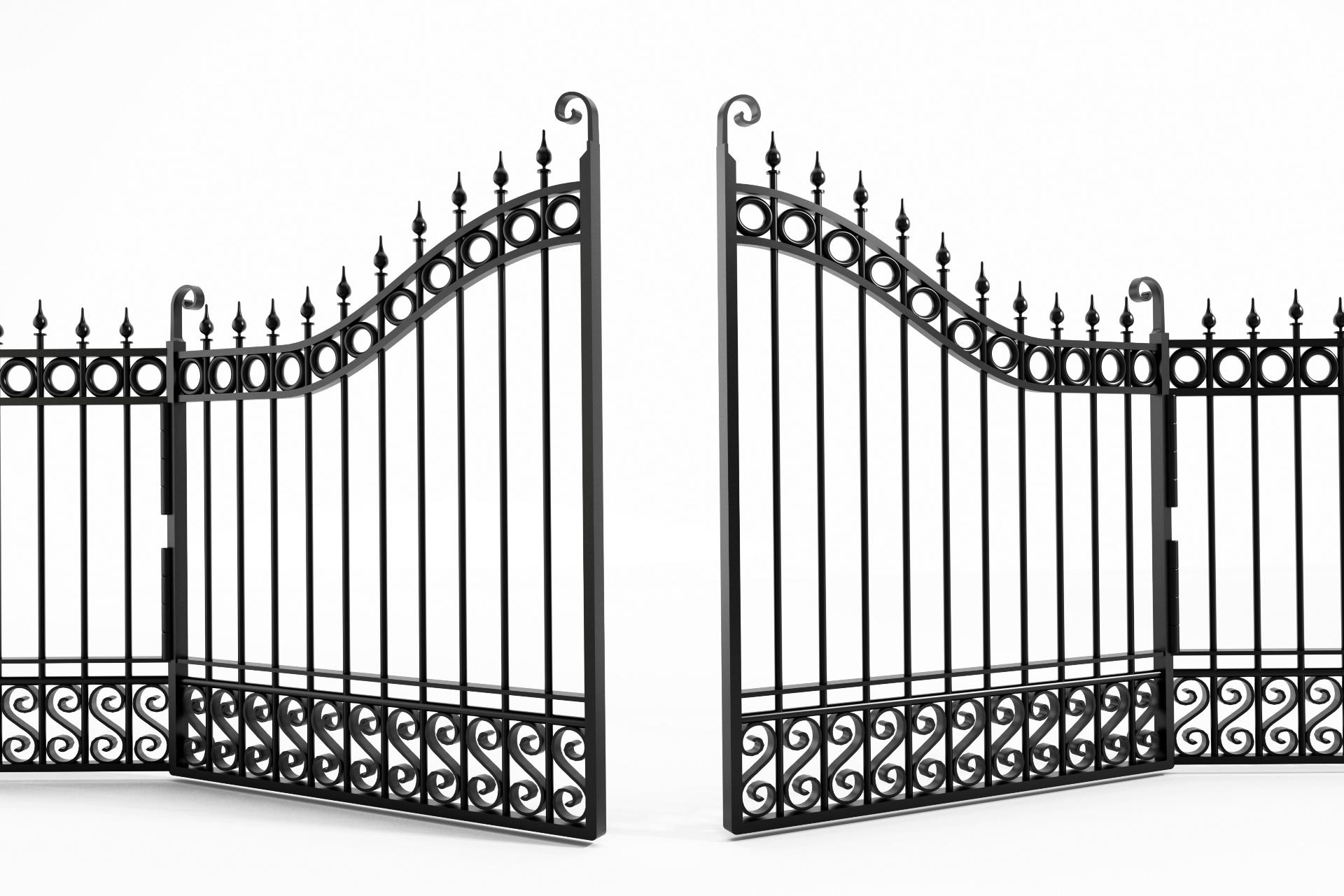 metalowe bramy ogrodowe