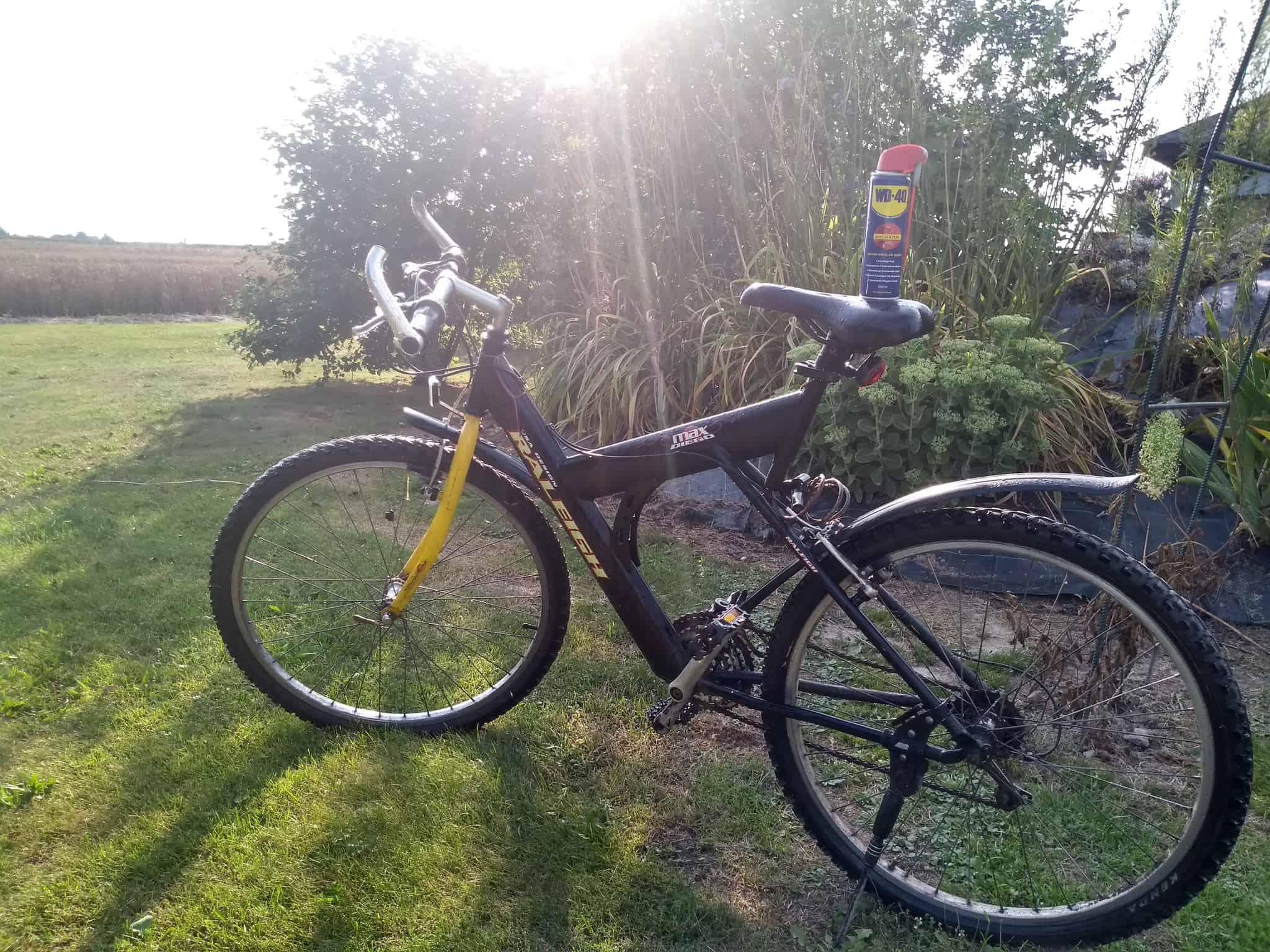 usuwanie rdzy z roweru
