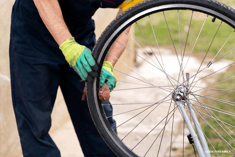 dar brilho às rodas da bicicleta