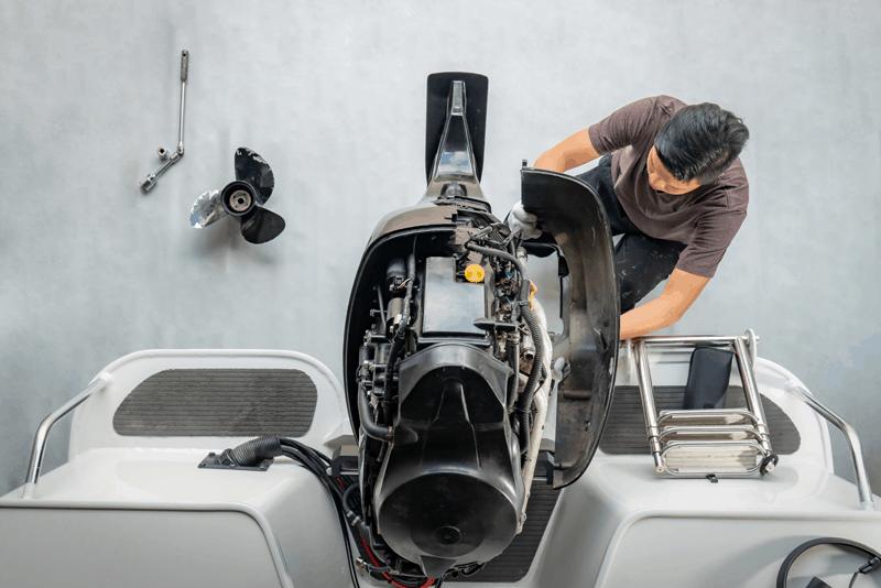evitar a deterioração do motor fora de bordo