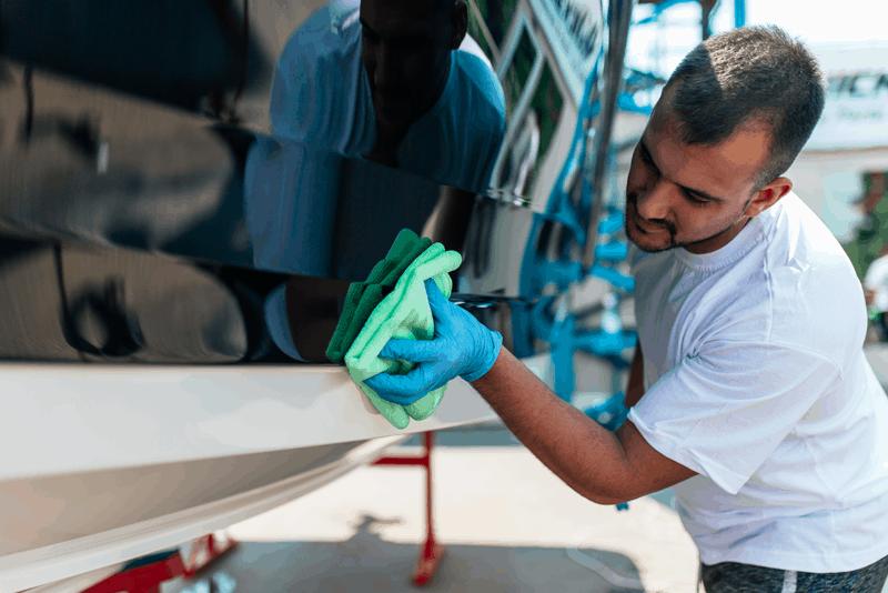 limpar vinil da embarcação