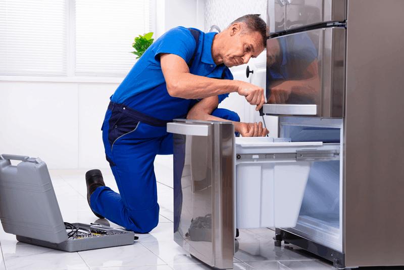 limpar o frigorífico - dobradiças