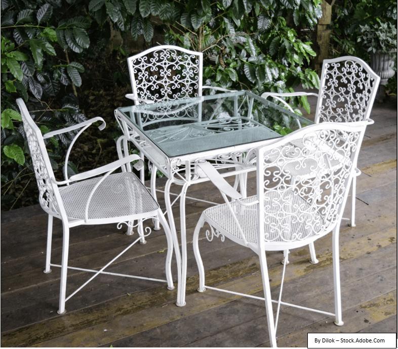 prevenirea aparitiei ruginii pe scaunele metalice de gradina