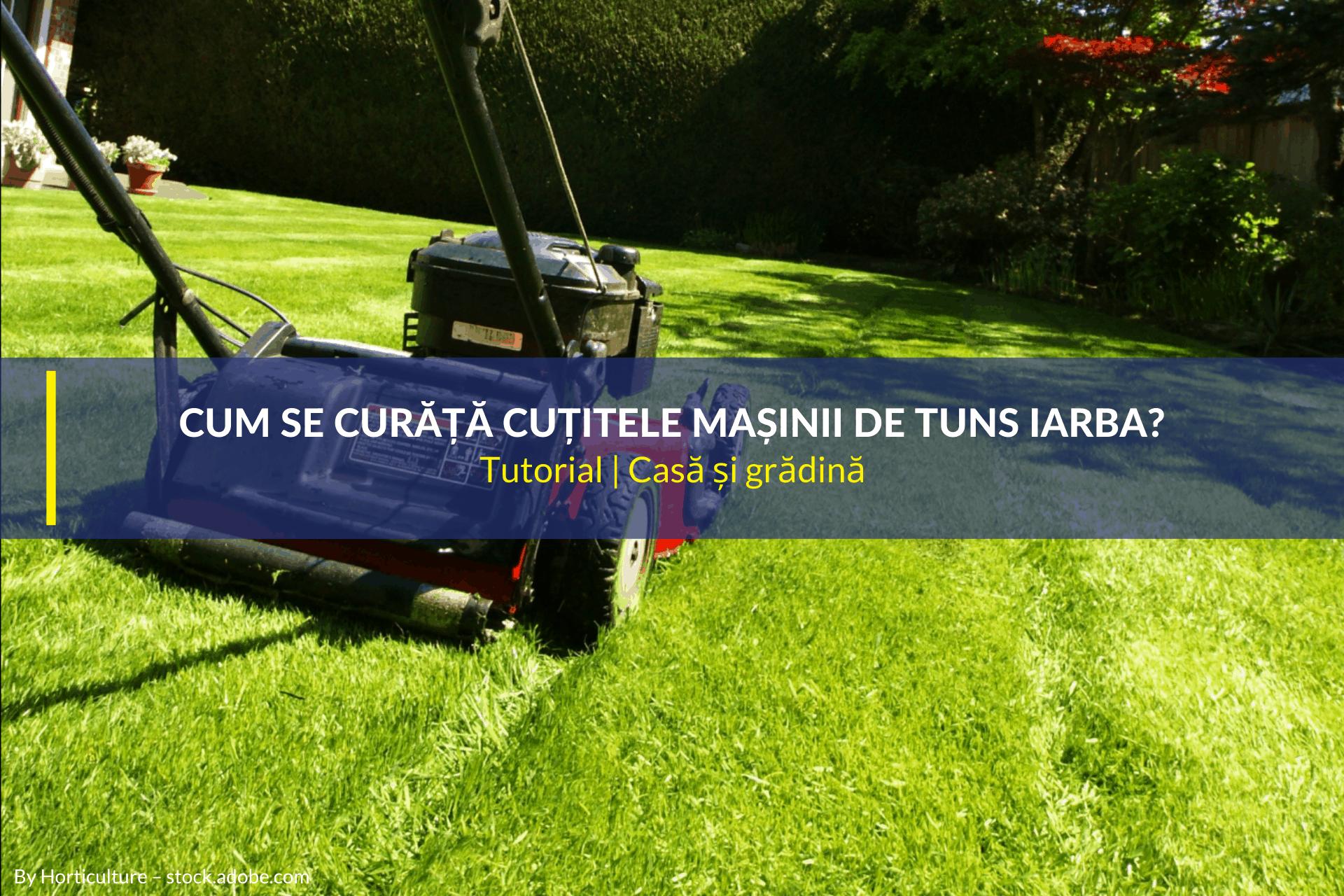 cum se curăță cuțitele mașinii de tuns iarba