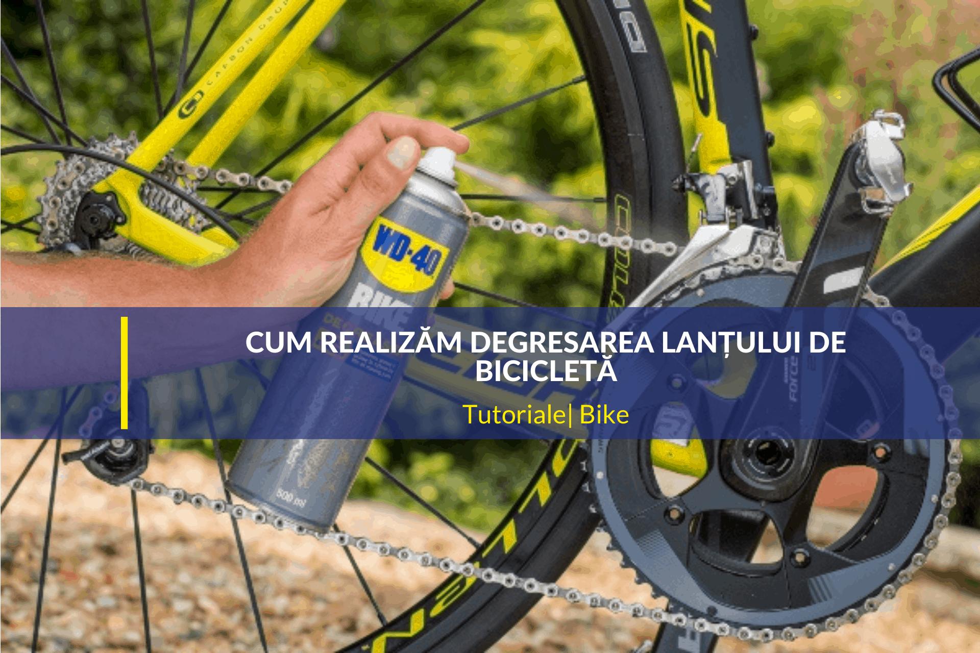 cum realizăm degresarea lanțului de bicicletă