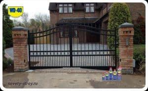 Как защитить от коррозии металлические ворота?