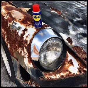 Применение WD-40 для автомобиля в холодное время года