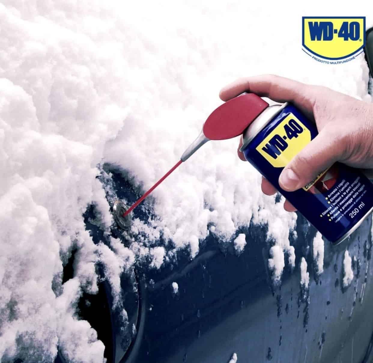 WD-40 для автомобиля в холодное время года
