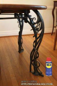 Как удалить ржавчину с кованой дачной мебели?