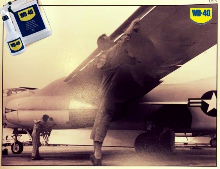 wd-40, самолет, ржавчина