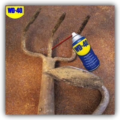 wd 40 garden tools