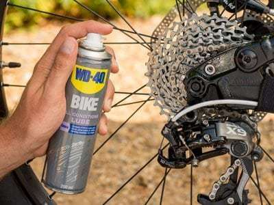 all conditions bike lube usage shot