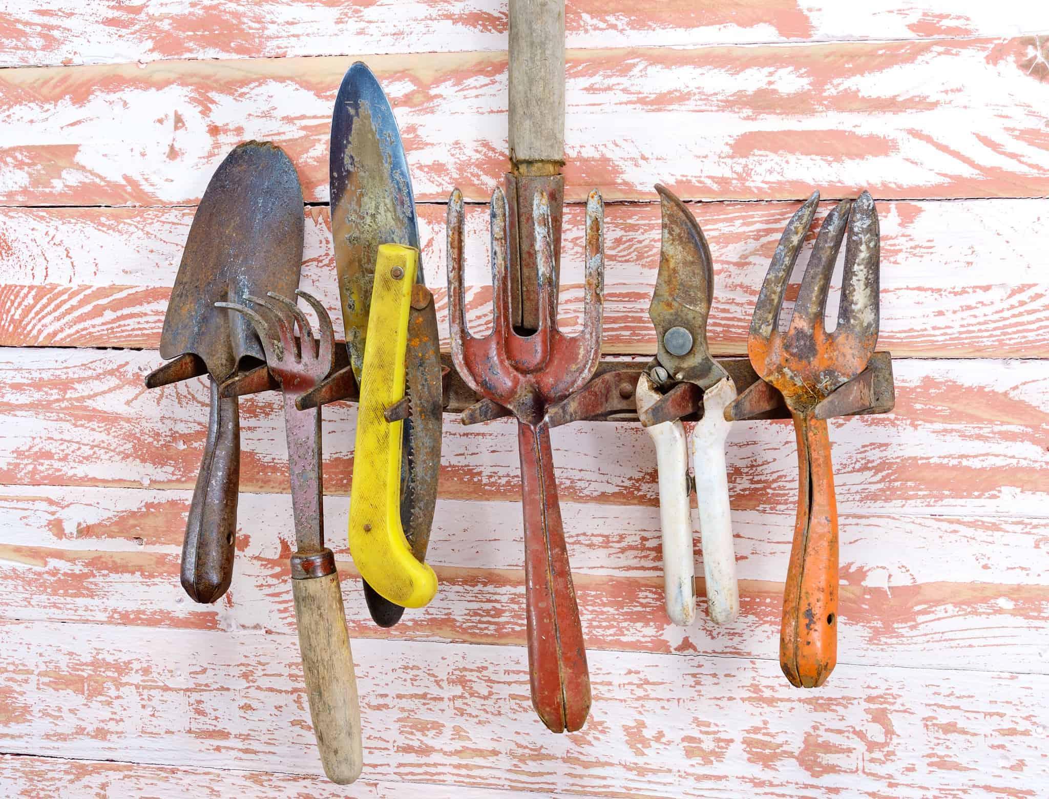ohranite vrtno orodje brez rje