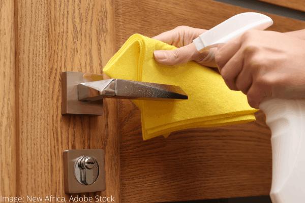 clean doorknobs easily